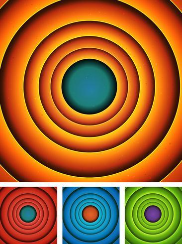 Abstract Cartoon Circles Background Set
