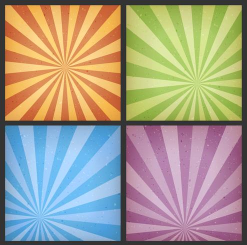 Abstract Sunbeams Backgrounds Set