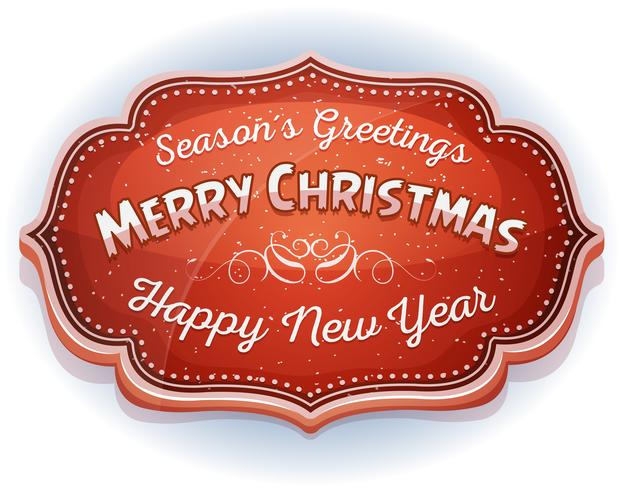 Gott nytt år och säsong hälsning märke
