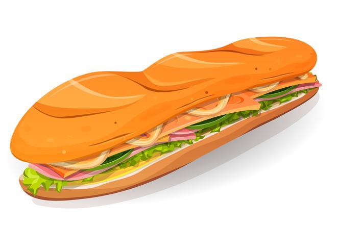 Klassische Schinken-und Butter-französische Sandwich-Ikone