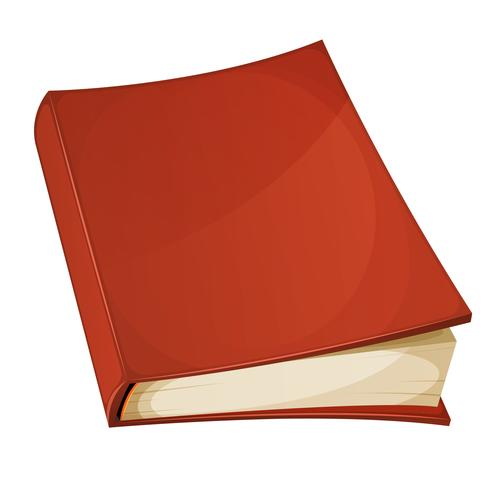 Rode boek geïsoleerd