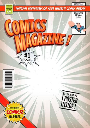 Comic-Buch-Cover-Vorlage