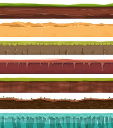 Nahtlose Grundstücke, Land und Boden für Ui-Spiel vektor