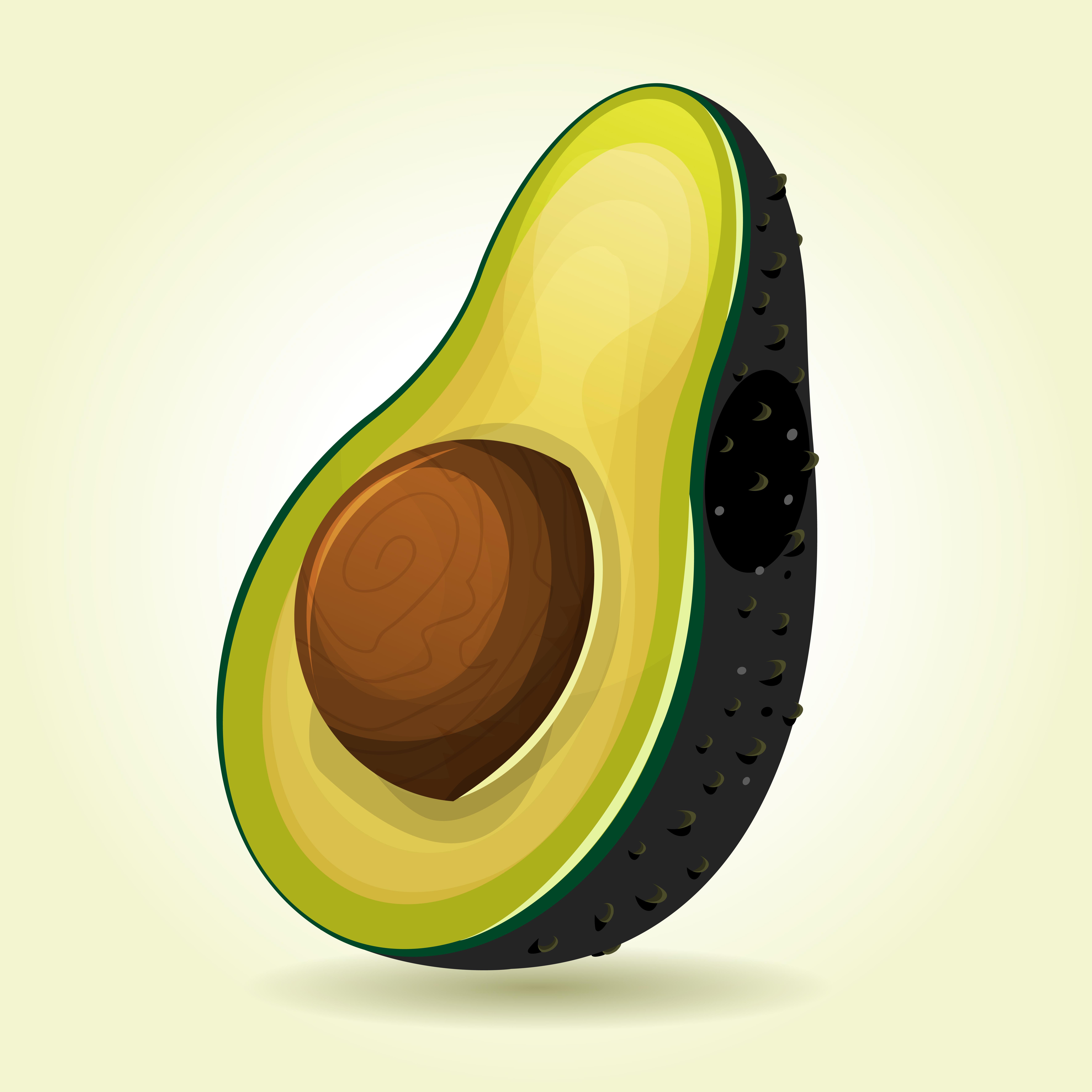 Cartoon Slice Of Avocado Download Free Vectors Clipart
