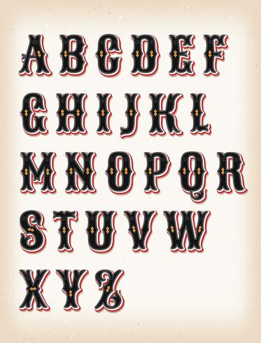 Vintage Circus och Western ABC Font