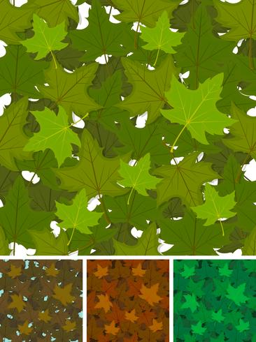 Seamless Maple Leaves Background Set