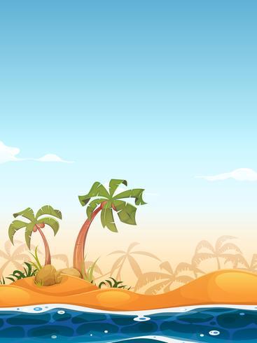 Exotic Beach Landscape vector