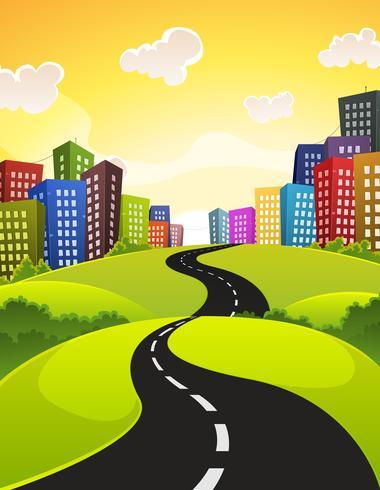 strada di città vettore