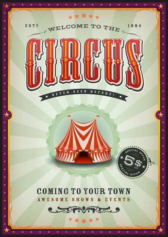 Vintage circusaffiche met zonnestralen vector