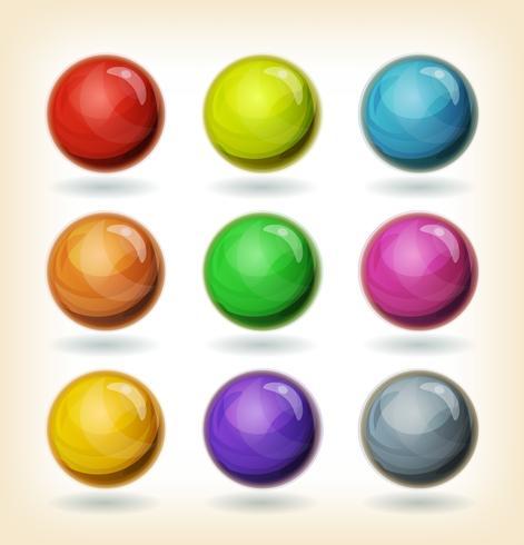 Ensemble de boules multicolores