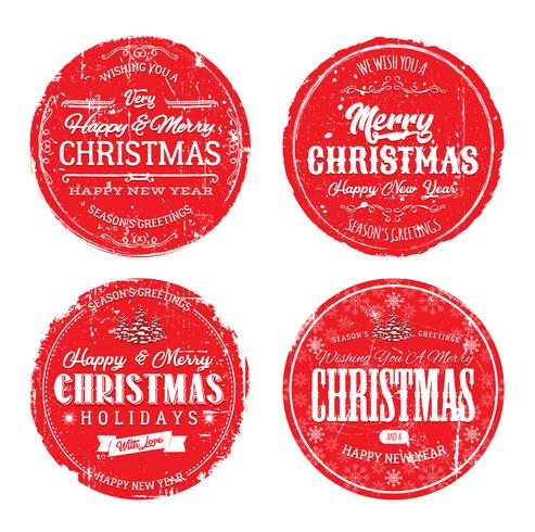 Frohe Weihnachten Grunge Abzeichen