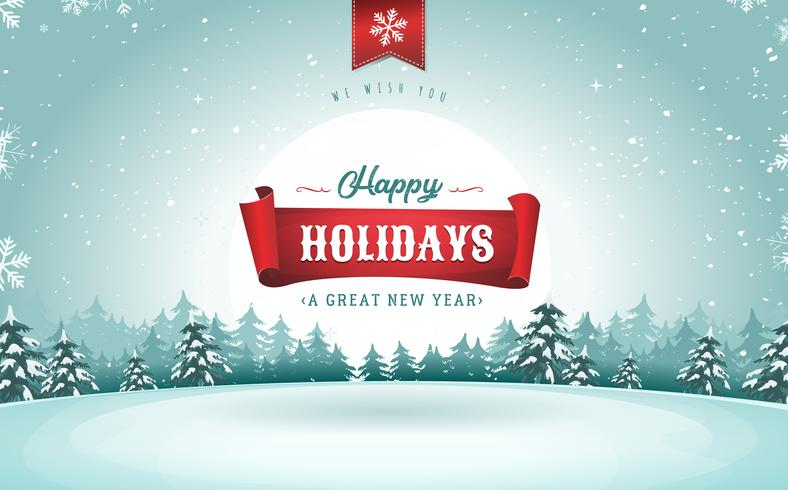 Happy Holidays Greeting Card - Download Free Vector Art, Stock ...