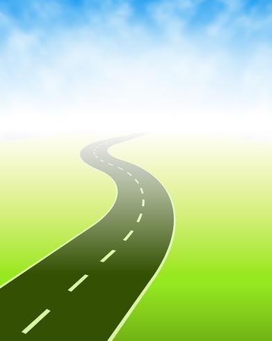 Strada che va da qualche parte vettore