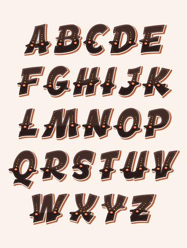 Grappig grappig ABC-lettertype