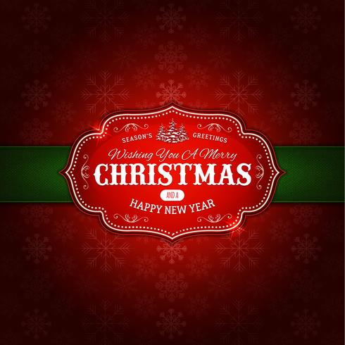 Merry Christmas Ornament Background vector