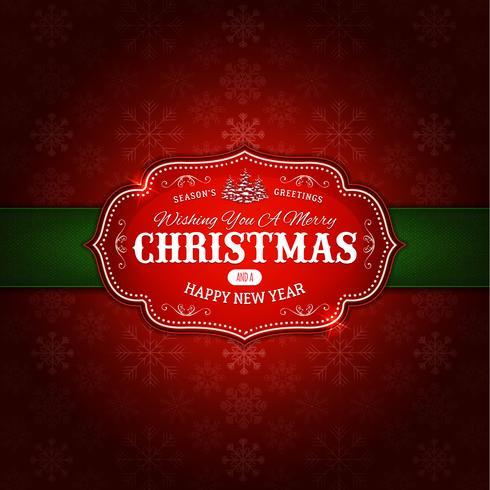 Feliz adorno de navidad de fondo