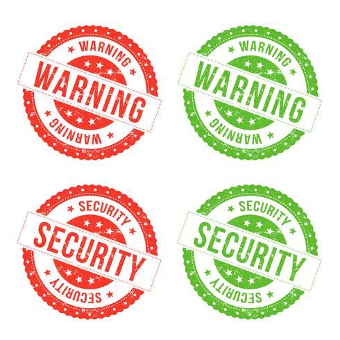 Warning And Security Seals vector