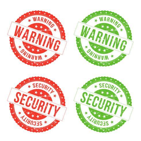 Sellos de advertencia y seguridad