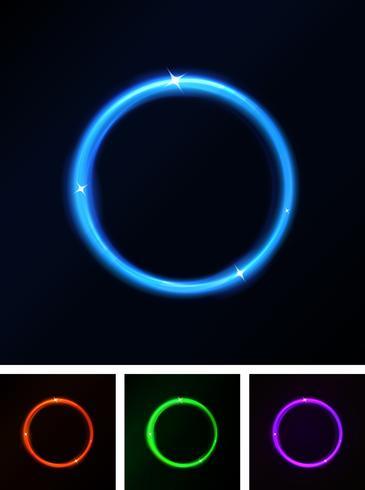Abstrakta glänsande laserkretsar