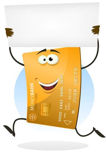 Carte de crédit dorée en cours d'exécution avec signe vierge