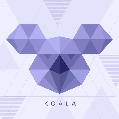 vector geométrico koala