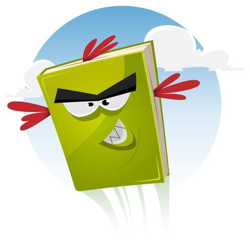 Toon Bird Book Personnage Volant vecteur