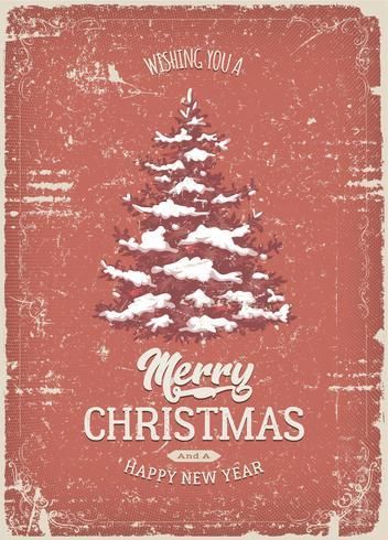 Tarjeta de felicitación de Navidad con textura Grunge