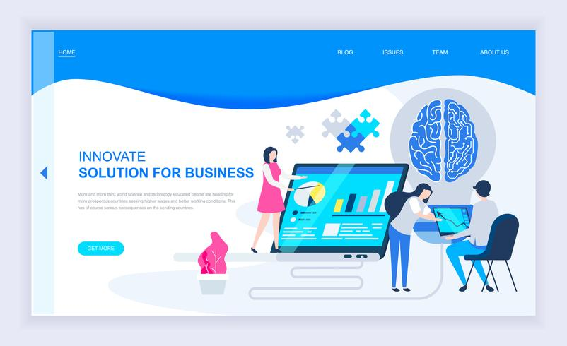 Bannière Web sur l'innovation commerciale
