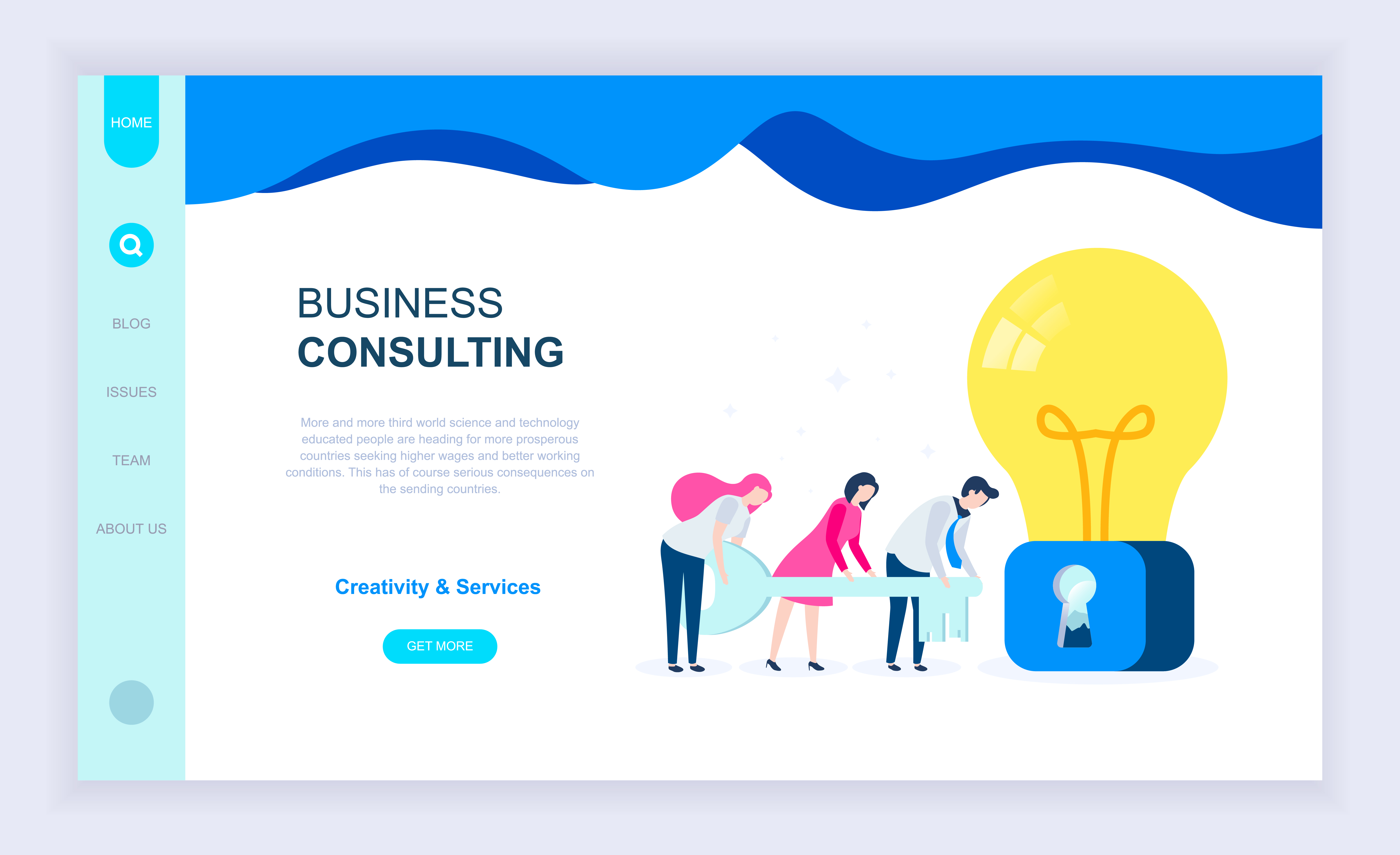 Business Consulting Web Banner - Download Free Vectors ...