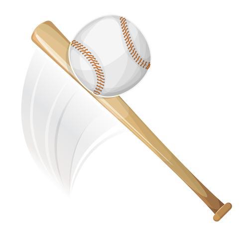 Honkbalknuppel die bal raakt