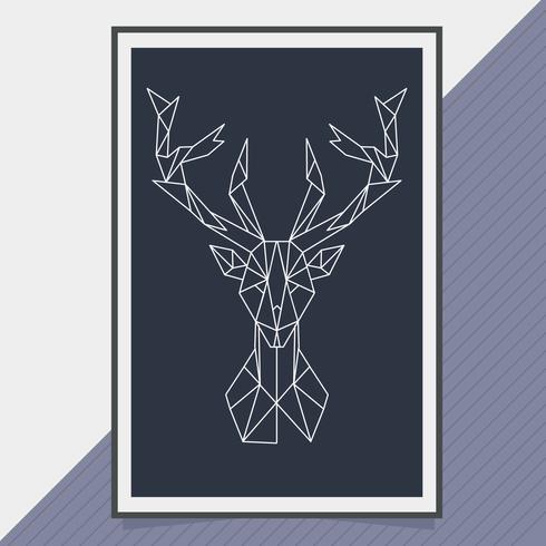 Vector geometrische vorm dier