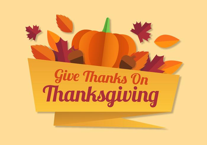 Thanksgiving Paper Style vector