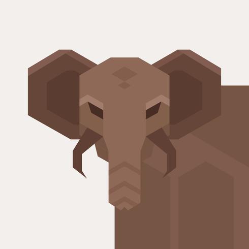 Geometric Simple Shape Animals Vector Illustration