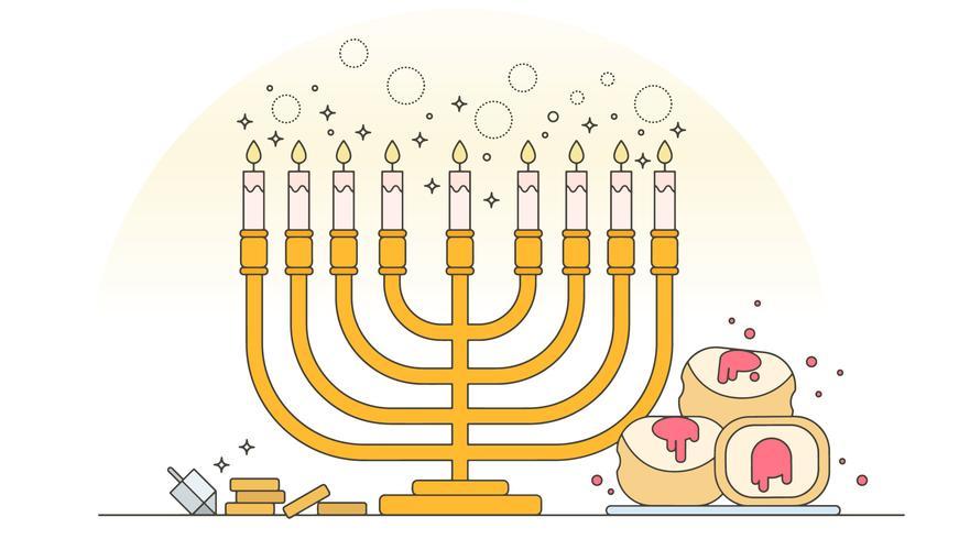 vetor de menorah hanukkah