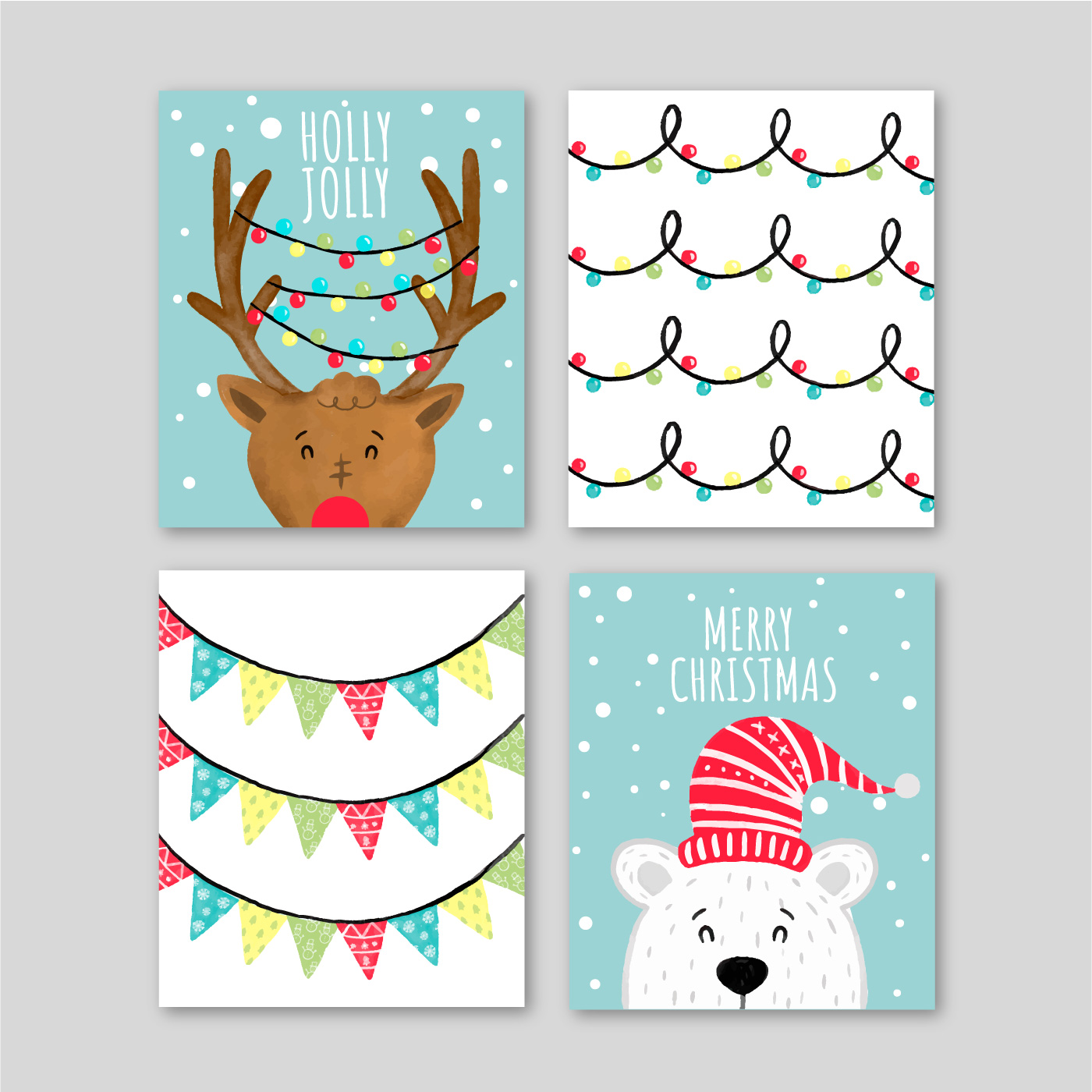 Cute Christmas Cards With Characters