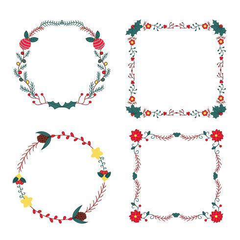 Lindos Marcos Florales De Navidad Y Bordes
