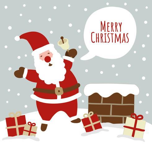 Cute Christmas Scene With Santa