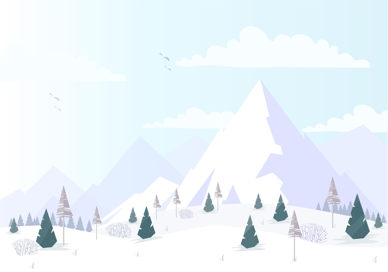 Landscape Illustration Vector Free: Vector Winter Landscape Illustration