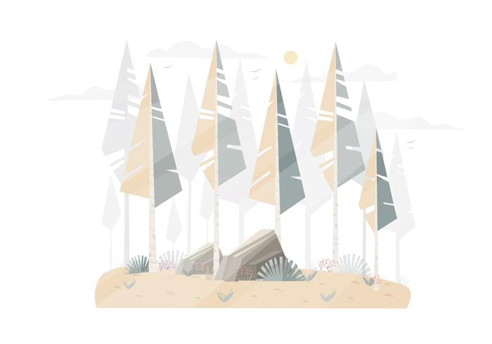 Vector Winter Landscape illustration