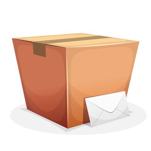 Postzustellung mit Pappe und Umschlag