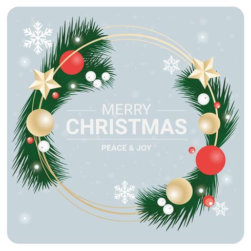 Diseño de tarjeta de felicitación de Navidad de vector