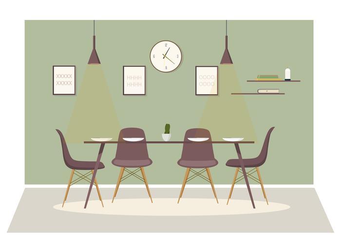 Vector Dinning Room Illustration