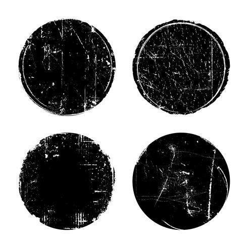 Grunge Textured Round Seal Stamps vector
