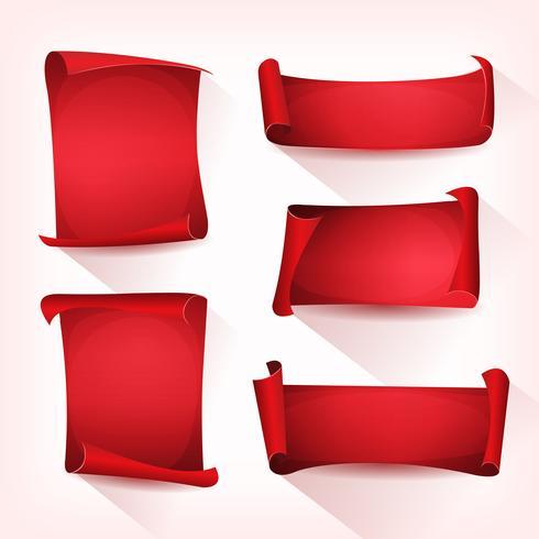 Conjunto de rolagem vermelho pergaminho de circo