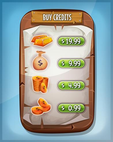Köp Credits Interface för Ui Game