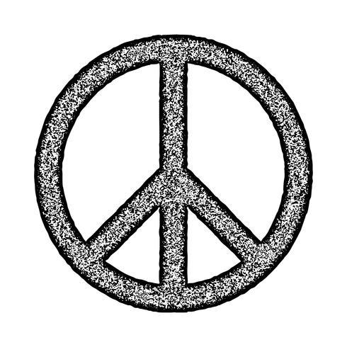 Symbole de la paix, pinceau dessiné à la main, illustration