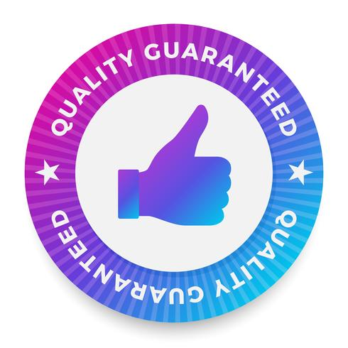 Qualitätsgarantie-Label, Rundstempel für qualitativ hochwertige Produkte