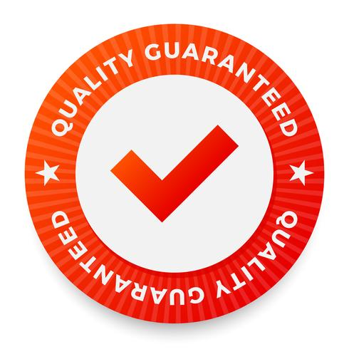 Quality guarantee label, round stamp for high quality products vector
