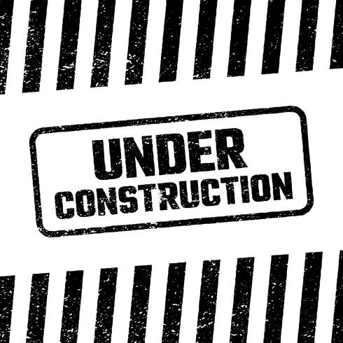 Under construction design, website development concept, illustration vector
