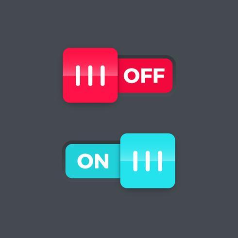 On Off switch slider, illustration